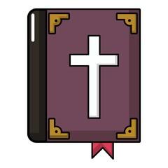 Bible icon, cartoon style
