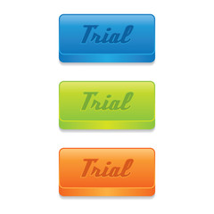 Colorful Trial Buttons