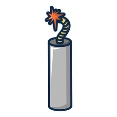 Dynamite explosive icon, cartoon style