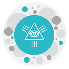 Vector Illustration Of Faith Symbol On Eye Of Providence Icon. Premium Quality Isolated Masonic Element In Trendy Flat Style.