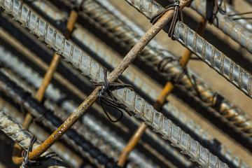 rusty steel bar closeup