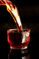 A drink or beverage is a liquid intended for human consumption. In addition to their basic function of satisfying thirst, drinks play important roles in human culture