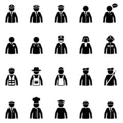 Job icon - Work of people
