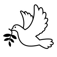 Dove carrying olive branch