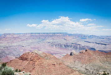 Blue sky above the Grand Canyon National Park