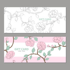 Gift card in pink shades
