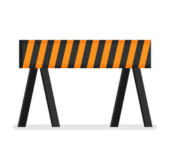 Prohibitory road sign icon in flat style isolated on white background