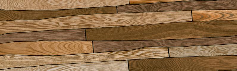 Digital tile illustration. Wooden concept