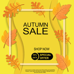Autumn big sale banner for use in printing, posters, invitations, web design and more.