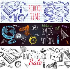 Back To School Banner Set