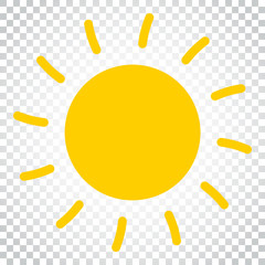 Sun icon vector illustration. Sun with ray symbol. Simple business concept pictogram on isolated background.