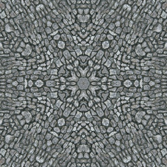 Decorative panel of stone in the form of a kaleidoscope