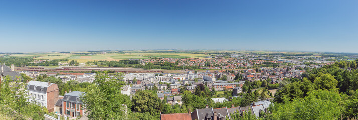 Panoramic view of the lower city of Laon, seen from the upper city
