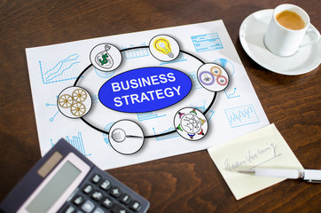 Business strategy concept on a paper