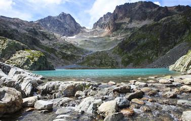 Aluminium Prints Reflection lake in the alps range