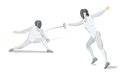 Fencing move illustration.
