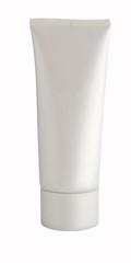 White plastic single-color tube for cosmetics