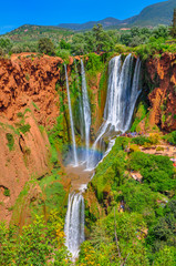 majestic Uzud falls which are located in a mountain part of Morocco
