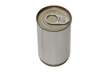 tin canned food  isolated on white