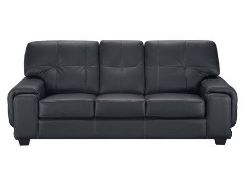 Stylish black leather sofa
