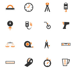 Measuring tools icons set