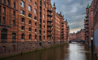 Old Speicherstadt or Warehouse district, Hamburg, Germany