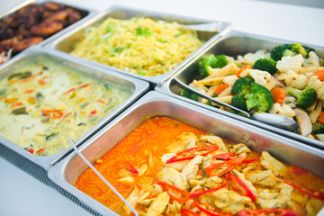 Food buffet catering in restaurant