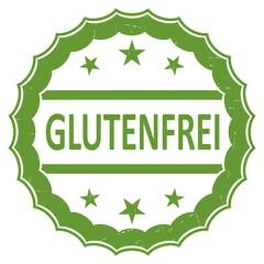 Glutenfrei (gluten free in German) rubber stamp. Flat vector.