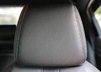 Close-up Leather car seat.