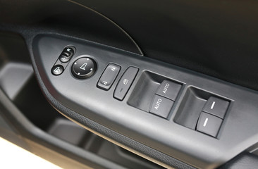 Panel control switch in the car.