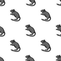 Gray gerbil.Animals single icon in cartoon style vector symbol stock illustration web.