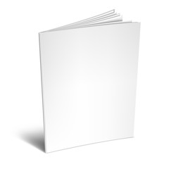 Empty White Book or Magazine