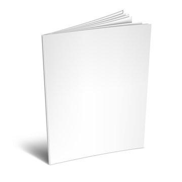 Empty White Book or Magazine