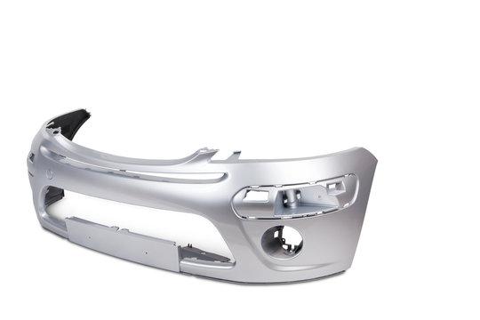 Zderzak srebrny - część karoserii samochodu osobowego