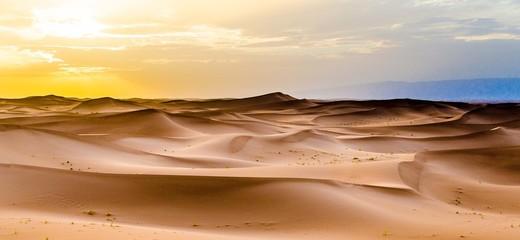 Fotobehang Marokko Tramonto nel Deserto
