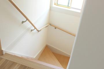 Foto op Plexiglas Trappen 新築の階段