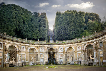 Villa Aldobrandini in Frascati. Theater of the Waters, Rome. Italy.jpg