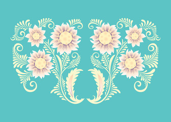 Flowers in decorative style
