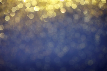 luxury golden and blue bokeh background