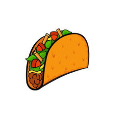 Pop art style taco sticker