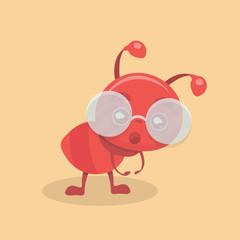 Cute ant cartoon.