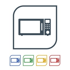 Microwave oven Icon Isolated on White Background.vector illustration icon