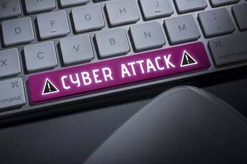 Cyber attack keyboard button
