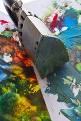 an encaustic colors and iron for encaustic