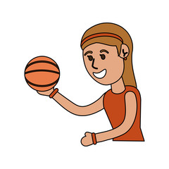 girl doing basketball sport