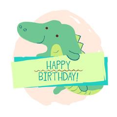 Crocodile element of card