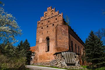 Gothic castle in Barciany village, Masuria, Poland