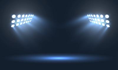 Soccer stadium projectors