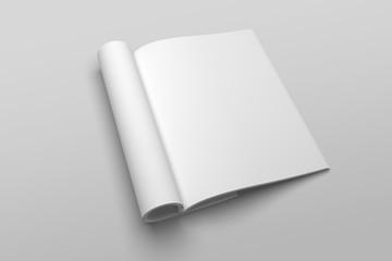 US Letter magazine or brochure 3D illustration mockup No. 2