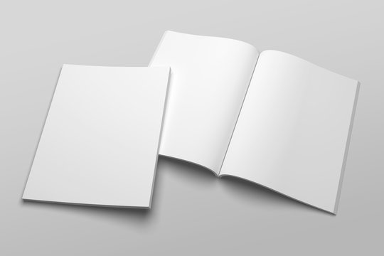US Letter magazine or brochure 3D illustration mockup No. 1